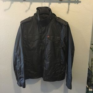 Levi's Zip-Hoodie Black Rain Coat